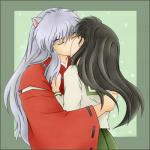When Inuyasha and Kagome first kissed, who made the first move?