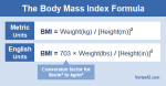 What's your BMI? (Body Mass Index) To calculate yours, click on the image and follow the simple instructions.