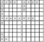 The fourth box is blank. If it weren't, what number would correspond with it? Clue:1,5,10,20,50