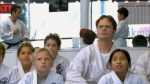 What color belt has Dwight reached in his Karate career?