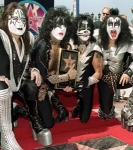 In what year did KISS get their star at the Walk of Fame?