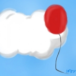 You see a red balloon in the sky, what do you think?