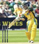 How many runs did Damien Martyn make in the 2003 World cup final?(*)=not out