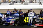 Who got Jimmie his chance to drive the #48 Nextel Cup car?
