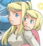 Winry is blonde.