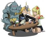 Winry likes bananas and kiwis and cake! More than auto-mail.