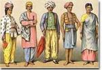 What are the names of the castes of the Hindu people?