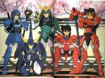 What are the names of the 5 armors worn by the Ronin Warriors?