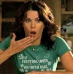 """What is the name of the guy that Lorelai meets at Luke's diner in the episode """"Pilot""""?"""