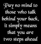 Have you ever talked behind someone's back?