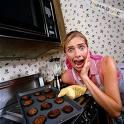 You make cookies and you accidentally burned them...