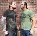 Hard One. The Hardy Boyz both originally wore the arm things.