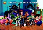 What did the toys use as disguises to get across the main road to get to Al's toy barn?