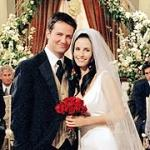 Who is pregnant at Monica and Chandler's wedding?
