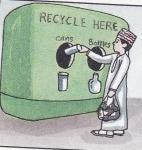 It is not helpful if we recycle cans, paper, and bottles.