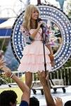 At one of Miley's concerts, during which Hannah Montana song did she get dropped by her dancers?