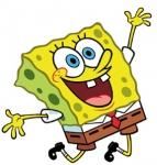 When Spongebob exercises, what does he use as weights on his dumbbell?