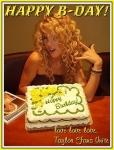 For Taylor's birthday (13.12.09), Taylor did what?