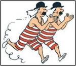 What are the names of the twin detectives from the Advancers of Tintin?