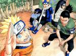 During the Chunin Exams arc, who did he fight during the final round?