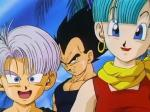 When Frieza (Mecha) comes to Earth for revenge, a boy named Trunks arrives and destroys him. How is Vegeta related to Trunks?