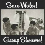 Penguin Camp provides a limited-resource cold water shower for limited use (limited because the shower water drains into our grey water/evaporation sy