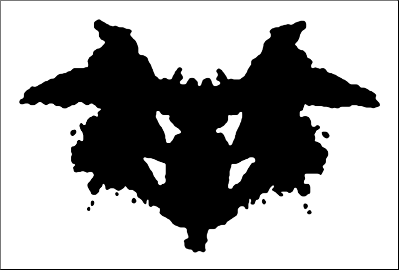 What do you see in the inkblot?