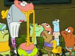 What type of color and car had their lights on in the episode band geeks?