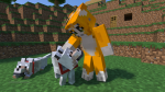 In Stampy's Minecraft let's play, which dog has the black collar?