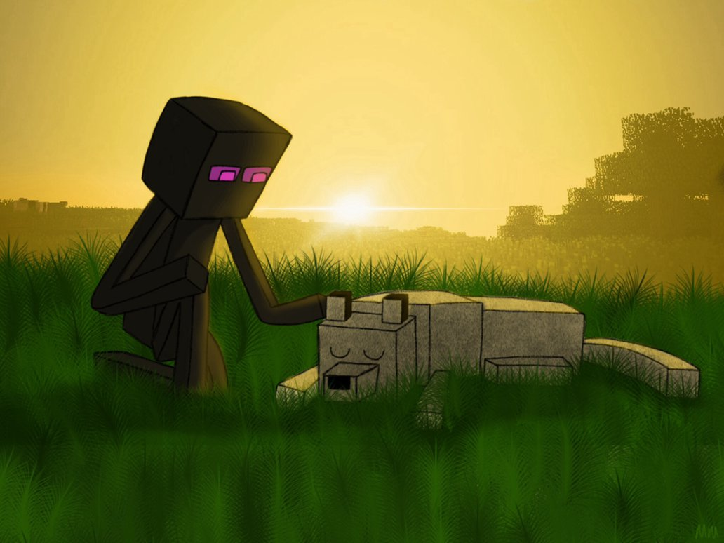 enderman minecraft wallpaper wolf - photo #15