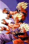 What is the name of the original voice actor for Goku, Gohan and Goten?