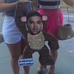 During an OTRA tour, some fans threw a Naughty Boy piñata on stage. What did Louis do to it?