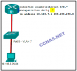 Refer to the exhibit. A network administrator is configuring inter-VLAN routing on a network. For now, only one VLAN is being used, but more will be a