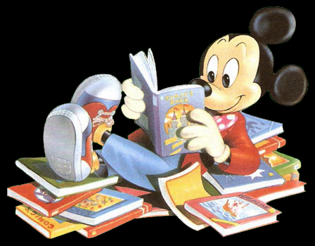 Image result for disney characters reading