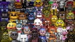 How many animatronics in FNaF 1-5 (not counting Halloween update)?