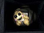 What does Toy Chica's bib say?