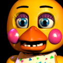 Toy Chica can be seen with her eyes and beak on one camera. Which one is it?