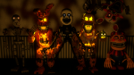 Which character from the FNaF four Halloween update later make their way into the standard edition of the game?