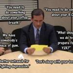 What object was stuck in the Dunder Mifflin Suggestion Box?
