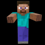 The two official Minecraft skins are Steve - a boy and Alex - another boy.