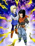 What is the real name of Android 18 and 17?