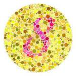 If you can see a pink 8 you are not color blind