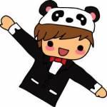 Oli has a pet panda on his head