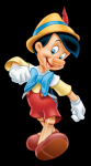 What colour dress does the fairy wear in Pinnochio?