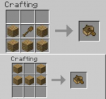 Which one is the crafting recipe of a boat?