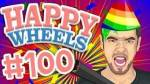 When was Happy Wheels episode 100?