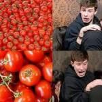 Tomatoes are Shawns Faviorte Juicy Treat