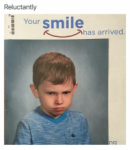 Oh man... look at this poor boy´s face. It seems that he posed _____ for he school photo...