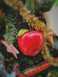 The first Christmas trees were decorated with food, and mainly fruits such as apples.