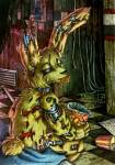 Springtrap is the only real animatronic in FnaF 3.